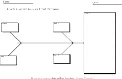 Cause and effect Graphic organizer herringbone with lines