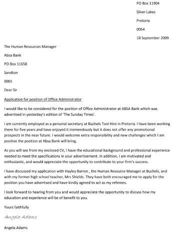 writing a cover letter - Writting Cover Letter