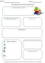Personal Narrative graphic organizer
