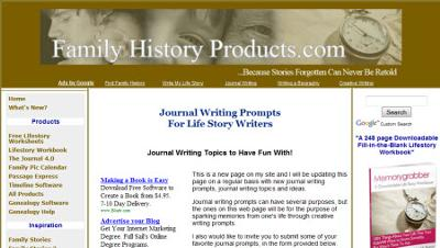 FamilyHistoryProducts.com