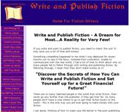 Write and Publish Fiction Home